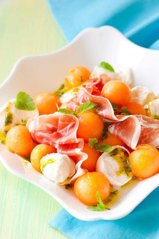 insalata melone e mozzarella